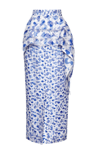 Medium roksanda ilincic blue print bochner skirt