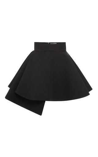 Medium fausto puglisi black black cady side drape mini skirt