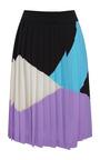 Multicolor Crepella Pleated Skirt by FAUSTO PUGLISI for Preorder on Moda Operandi