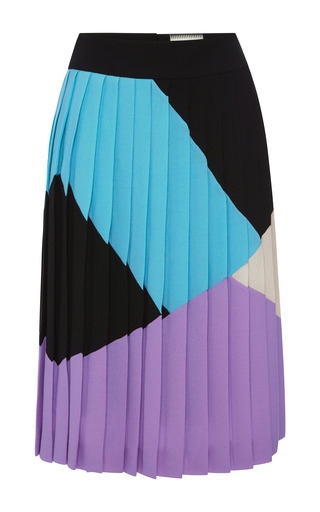 Medium fausto puglisi multi multicolor crepella pleated skirt