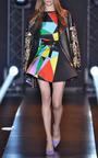 Multicolor Printed Skirt by FAUSTO PUGLISI for Preorder on Moda Operandi