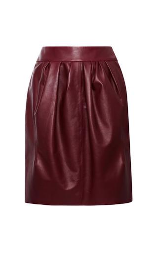 Medium nina ricci burgundy leather skirt 2