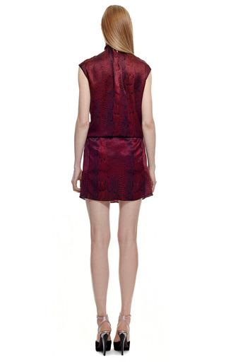 Printed Python Satin Dress by NINA RICCI for Preorder on Moda Operandi