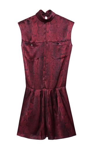 Medium nina ricci print printed python satin dress 2