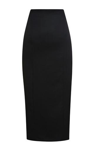 Medium olympia le tan black dunninger pencil skirt
