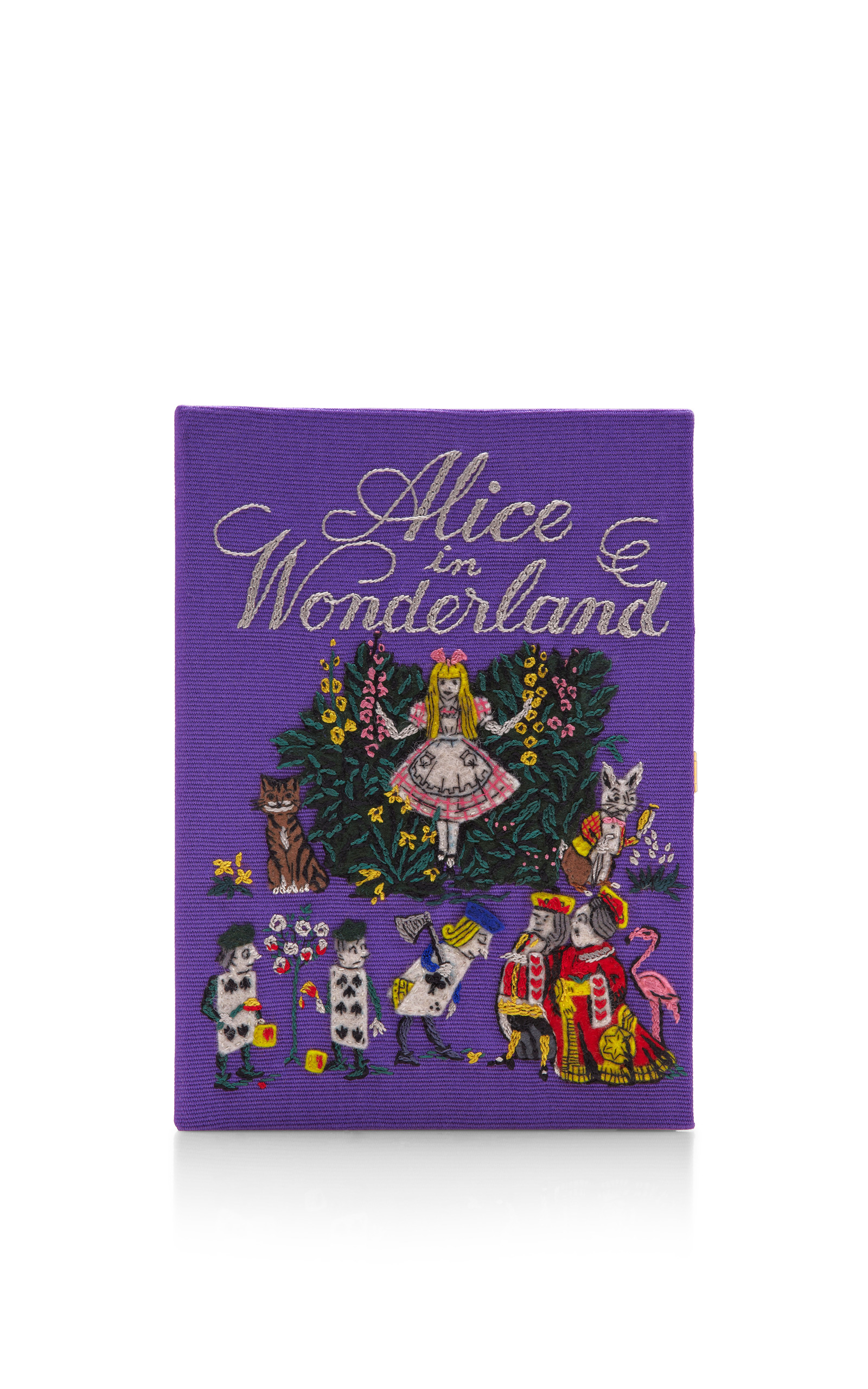 limited edition alice in wonderland book clutch by
