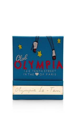 Medium olympia le tan black club olympia matchbook clutch