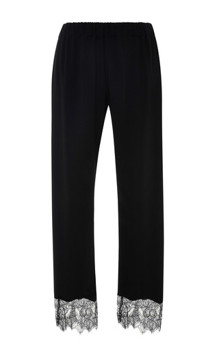 Medium clover canyon black soft suiting lace pant
