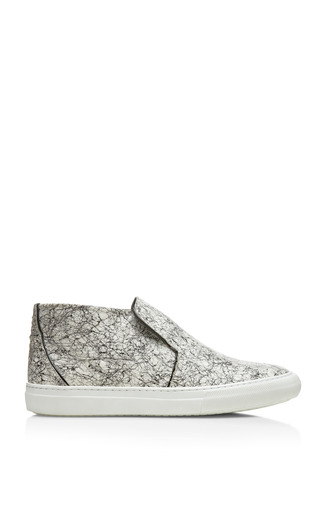 Medium pierre hardy white black and white snake scribblecalf sneaker