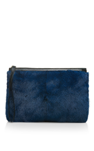 Medium pierre hardy green blue mink and watersnake clutch