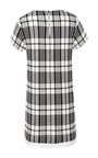 White Woven Stretch Plaid Shirt Dress by SEA for Preorder on Moda Operandi