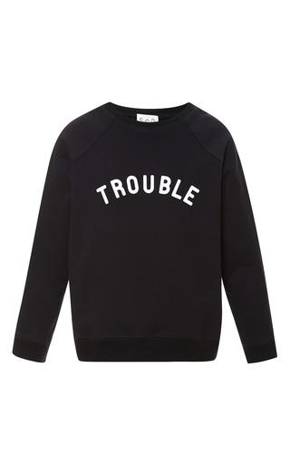 Medium sea black trouble sweatshirt