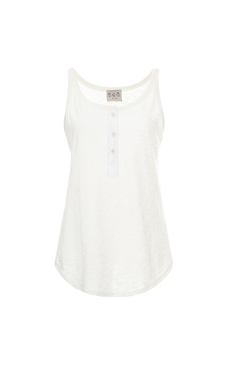 Medium sea white white jersey tank top
