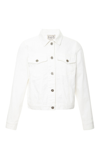 Medium sea white white denim jean jacket