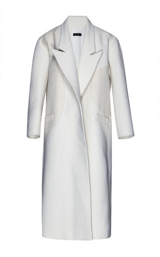 Medium ellery ivory peter pan coat