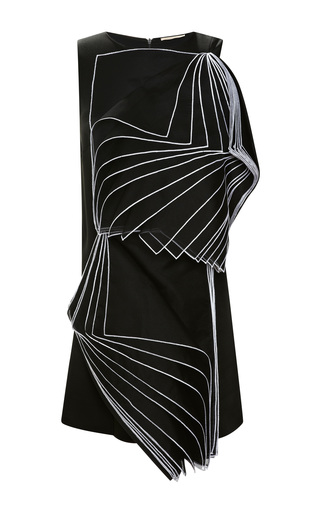 Medium christopher kane black double square layered organza dress