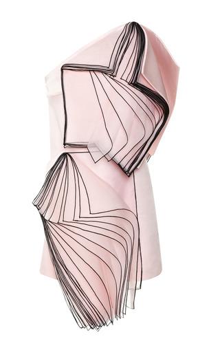 Medium christopher kane pink one shoulder layered organza dress