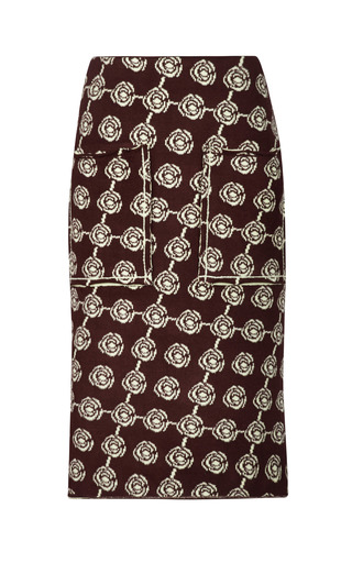 Medium sonia rykiel multi bicolor double face jacquard rose skirt 3