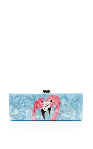 Medium edie parker multi flavia flamingo pearlescent acrylic clutch