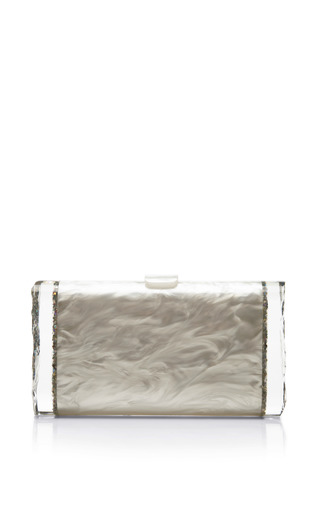 Lara Pearlescent Acrylic Clutch by EDIE PARKER Now Available on Moda Operandi