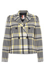 Pixelated Prince Of Wales Wool Felt Jacket by MSGM for Preorder on Moda Operandi