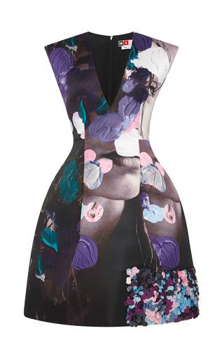 Medium msgm print beauty and art embellished duchesse dress