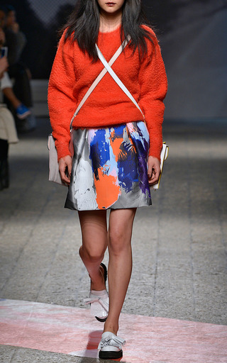 Beauty And Art Jacquard Mini Skirt by MSGM for Preorder on Moda Operandi