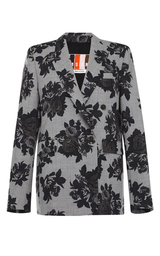 Rose Print Flannel Jacket by MSGM for Preorder on Moda Operandi