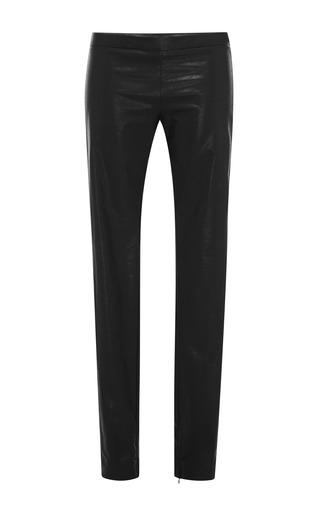 Medium msgm black eco leather leggings