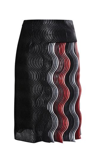 Medium marco de vincenzo black allover wave and wave tape skirt 5