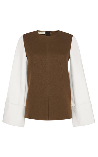 Deep Sage Blouse by MARNI for Preorder on Moda Operandi