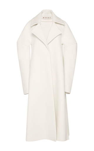 Medium marni white blanc washed felt coat