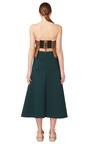 Dark Green Bonded Jersey Long Skirt by MARNI for Preorder on Moda Operandi
