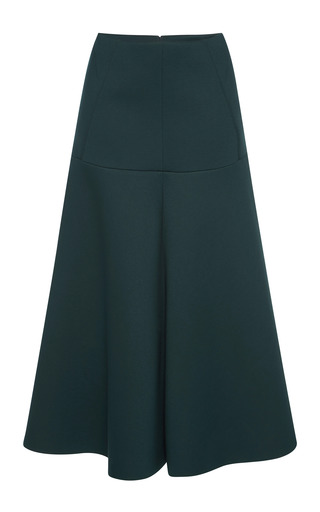 Medium marni green dark green bonded jersey long skirt