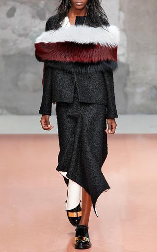 Curly Wool And Nappa Plonge Skirt by MARNI for Preorder on Moda Operandi