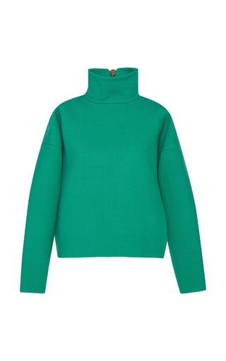 Medium marni green emerald stretch wool garbardine jacket