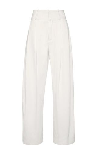 Medium marni white diamante wide leg trousers