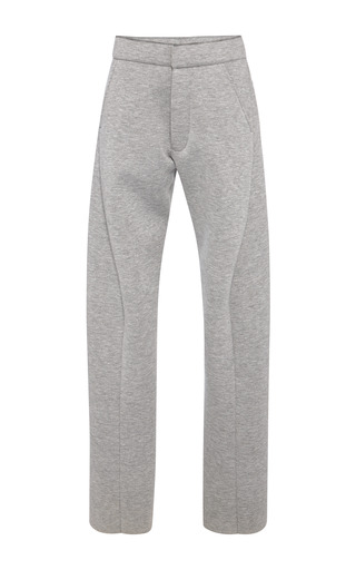 Medium marni dark grey grey bonded jersey trousers