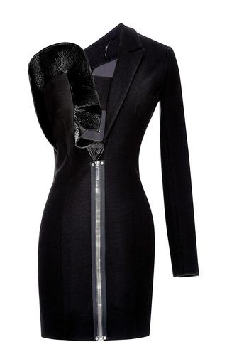 Medium anthony vaccarello black asymmetric dress with half bustier
