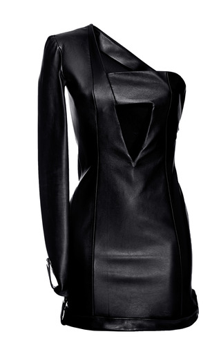 One Sleeve Leather Dress by ANTHONY VACCARELLO for Preorder on Moda Operandi