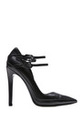 Black Two Strap Pump by ANTHONY VACCARELLO for Preorder on Moda Operandi