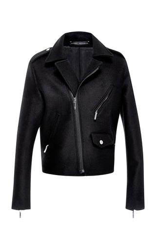 Medium anthony vaccarello black perfecto short felt jacket