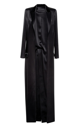 Medium anthony vaccarello black floor length coat