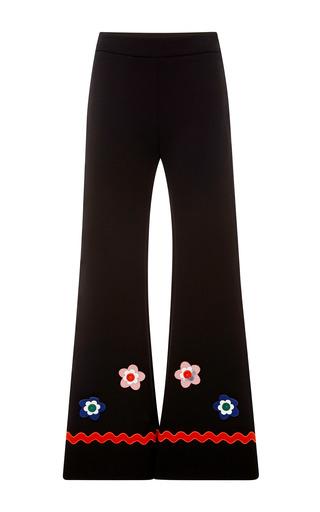 Medium vivetta black fumiko embellished jersey trousers