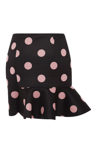 Eva Scuba Dot Skirt In Black by VIVETTA for Preorder on Moda Operandi