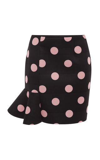 Medium vivetta pink eva scuba dot skirt in black