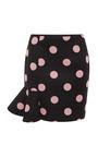 Eva Scuba Dot Skirt In Black by VIVETTA for Preorder on Moda Operandi