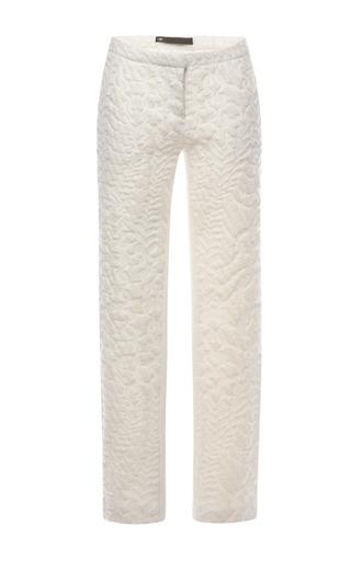 Medium muller white cable jacquard pants 2