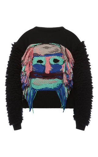 Medium muller black moai sweater