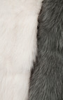 Two Tone Fur Stole by MULLER for Preorder on Moda Operandi